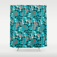 heels Shower Curtains featuring Worm Heels by CarreonMedia
