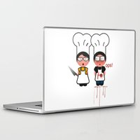 the fault Laptop & iPad Skins featuring It wasn't my fault by Golosinavisual