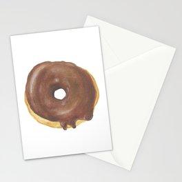 Chocolate Iced Doughnut Stationery Cards