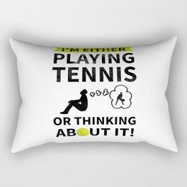 Tennis Player Thinking About Tennis Rectangular Pillow