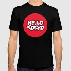 Hello Tokyo Black Mens Fitted Tee SMALL