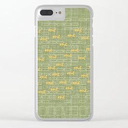 Me Time Clear iPhone Case