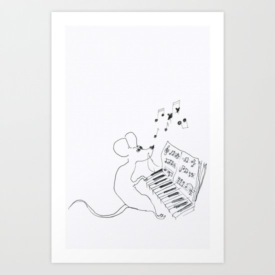 mouse pianist Art Print
