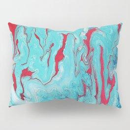 Coral Garden: Acrylic Pour Painting Pillow Sham