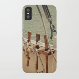 Sailboat Ropes and Lines Color Photo iPhone Case