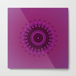 Deep purple mandala Metal Print