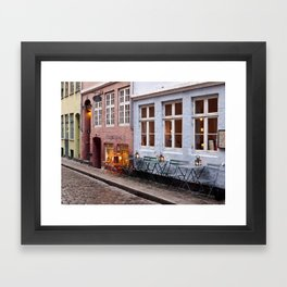 Copenhagen Sidewalk Cafe Framed Art Print