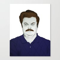 swanson Canvas Prints featuring SWANSON by austinthomas