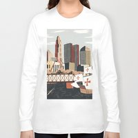 ohio Long Sleeve T-shirts featuring Columbus, Ohio by Sam Brewster