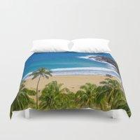 hawaiian Duvet Covers featuring Hawaiian beach by Ricarda Balistreri