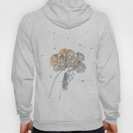 Hand Holding Dead Flowers Hoody