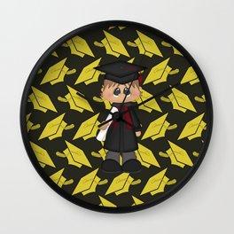 Cute Little Graduation Boy Wall Clock