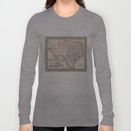 Vintage Map of Texas (1866) Long Sleeve T-shirt