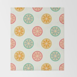 Little Lemons Throw Blanket