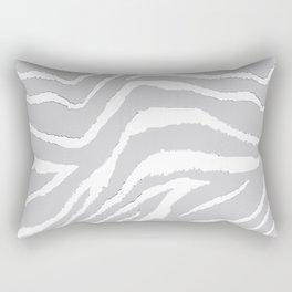ZEBRA GRAY AND WHITE ANIMAL PRINT Rectangular Pillow