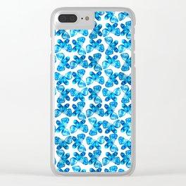 Indigo Butterflies Clear iPhone Case