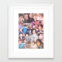 larry stylinson Framed Art Prints featuring Harry and Louis - Larry Stylinson by Troy Abed