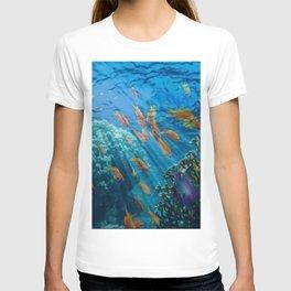 Orinoco Flow - Far Beneath the Coral Sea, Ocean Portrait by Jeanpaul Ferro T-shirt