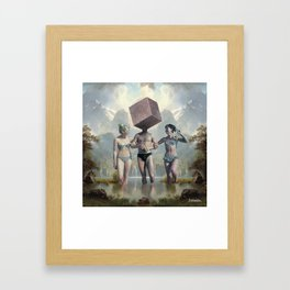 Blockhead Framed Art Print