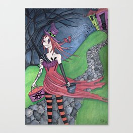 Leaving the Hatter Canvas Print