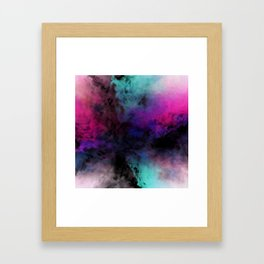 Neon Radial Dreams Framed Art Print