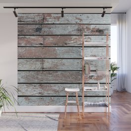 Distressed Wood Wall Mural