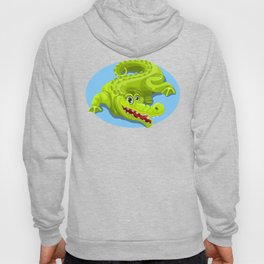 Cartoon Crocodile Vector Design 2 Hoody