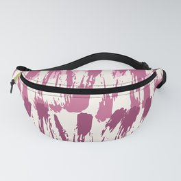 Pastel pink burgundy watercolor abstract zigzag brushstrokes Fanny Pack