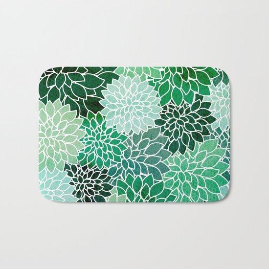 Succulents Bath Mat