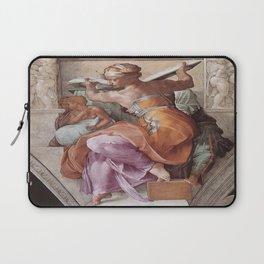 The Libyan Sybil Sistine Chapel Ceiling by Michelangelo Laptop Sleeve
