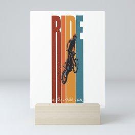 Ride Slogan Motorcross Mini Art Print
