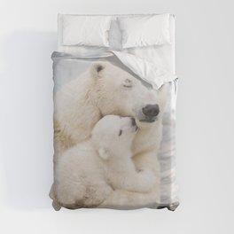 Polar Bear Love Duvet Cover
