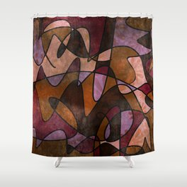 """""""Everyday Remnants"""" Abstract, Alt 5 Shower Curtain"""