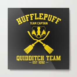 Hufflepuff Quidditch Metal Print