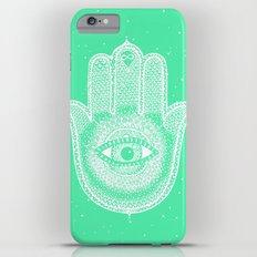 Hamsa lucky green iPhone 6 Plus Slim Case