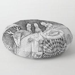 Knitting Cats Floor Pillow
