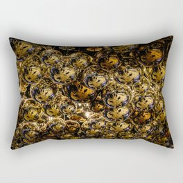 Shiny Golden Vegas Balls Rectangular Pillow