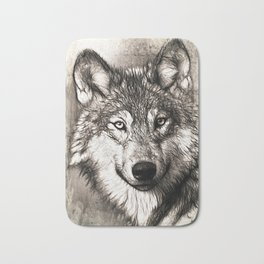 wolf Bath Mat