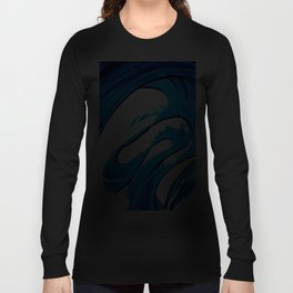 Pure Water 315 - Blue Abstract Art By Sharon Cummings Long Sleeve T-shirt