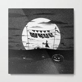 Drawlloween 2015: Happy Halloween (Black & White) Metal Print