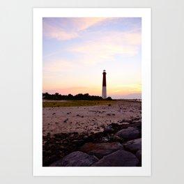 Barnegat Lighthouse Sunset Art Print