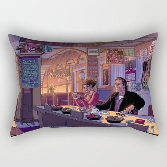 Diner Scene Rectangular Pillow