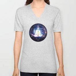 Merkaba Lightbody Chakra Meditation Unisex V-Neck
