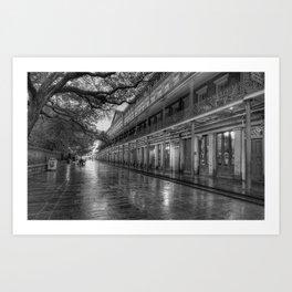 New Orleans, French Quarter, Jackson Square black and white photograph / black and white photography Art Print