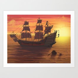 Queen Anne's Revenge Art Print