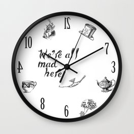 Classic Alice in wonderland Wall Clock