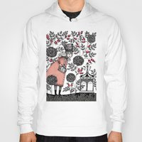 garden Hoodies featuring Winter Garden by Judith Clay