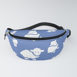 Seamless pattern with cute sheep. Vector kids background Fanny Pack