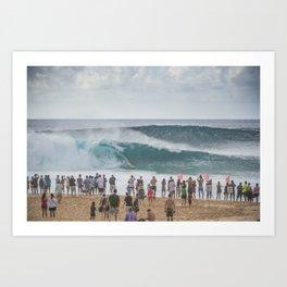 Massive wave at Banzai Pipeline, Northshore Oahu, Hawaii Art Print