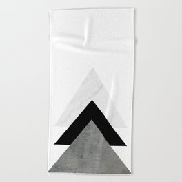 Arrows Monochrome Collage Beach Towel